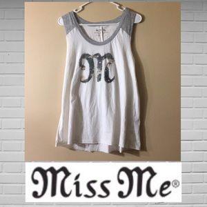 Miss Me Camo Muscle Tee